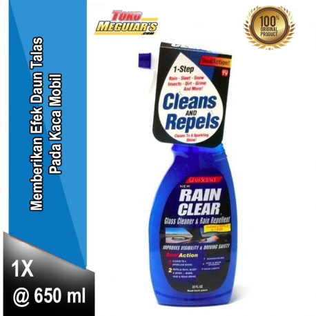 Glass Science™ Rain Clear® Glass Cleaner & Repellent (22 oz / 650 ml) by UNELCO